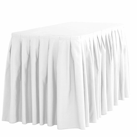 Polyester 13' Table Skirt  (Avaliable in Black, White or Ivory)