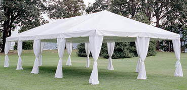 Tent Leg Drape - Formal White