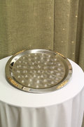 Silver and Gold Serving Tray Large