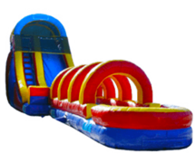 22ft Rainbow Water Slide w Slip n Slide