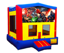Justice League Inflatable Moonwalk