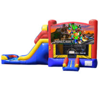 A Minecraft Bounce House & Slide