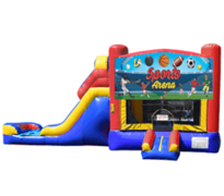 Sports Arena Inflatable Jumper & Slide