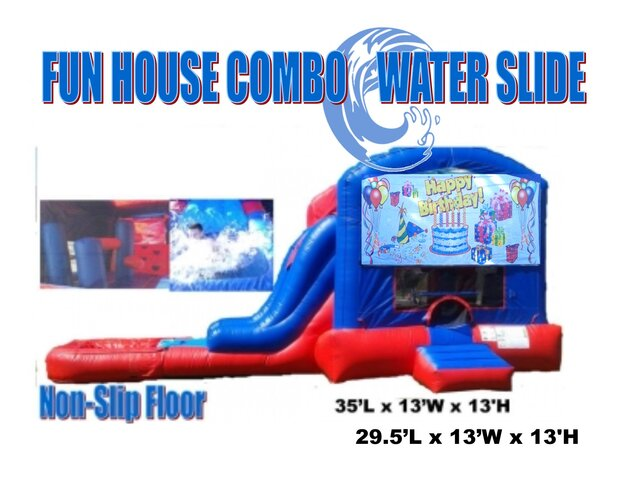 Happy Birthday Fun House Combo Wet