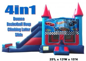 Hot Wheel Bounce, Slide, Hoop Castle Combo