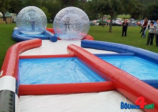 HUMAN HAMSTER BALLS WITH EXTREME TRACK