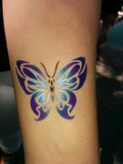 Airbrush + Glitter Tattoos