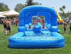 Dual Lane Slip N Slide w/Pool