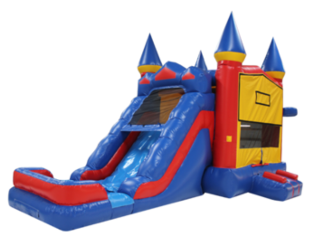 The Castle Combo Bounce House (Wet or Dry)