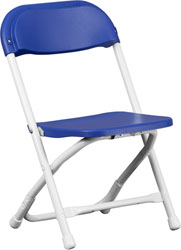 Kids Blue Plastic Folding Chair